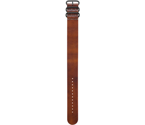 GARMIN BROWN LEATHER STRAP